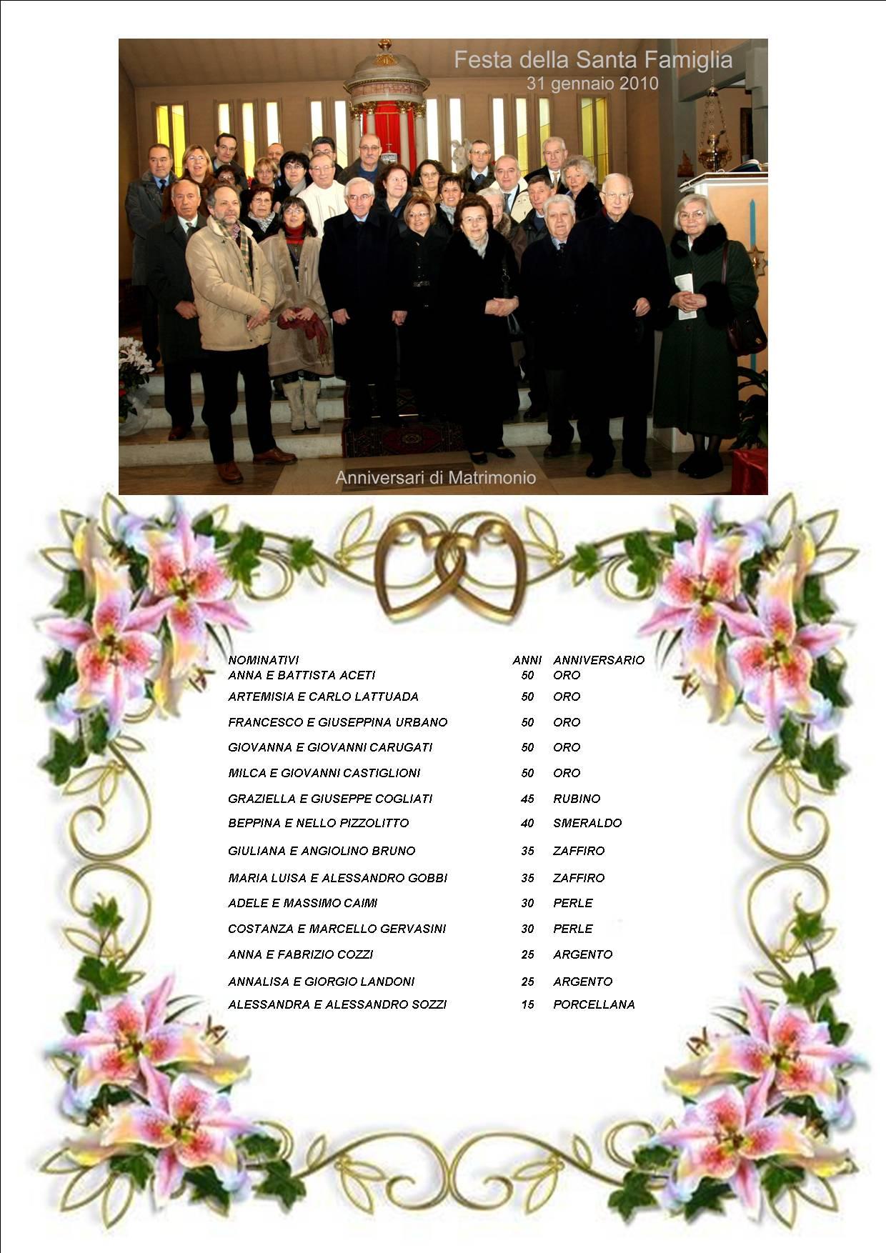 Anniversario Matrimonio Elenco.Raccolta Foto